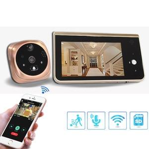 Image 1 - Video Peephole Wifi Doorbell Camera 4.3 Inch Monitor Motion Detection Door Viewer Video eye Wireless Smart Ring Intercom