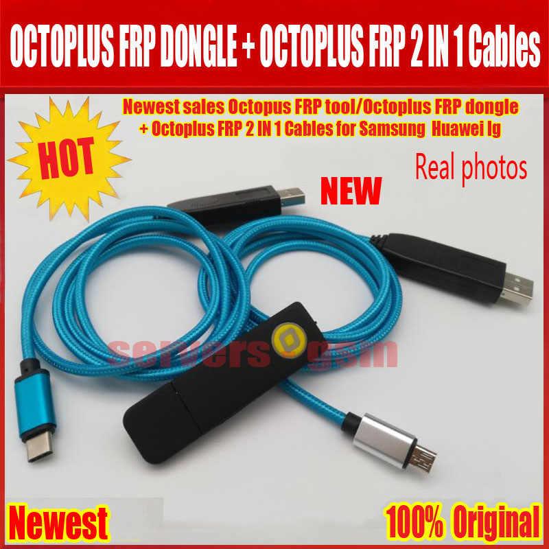 2020 I Più Nuovi di vendita ORIGINALE Octopus FRP strumento/Octoplus FRP dongle + Octoplus FRP UART USB 2 IN 1 Cavi forSamsung forHuawei lg