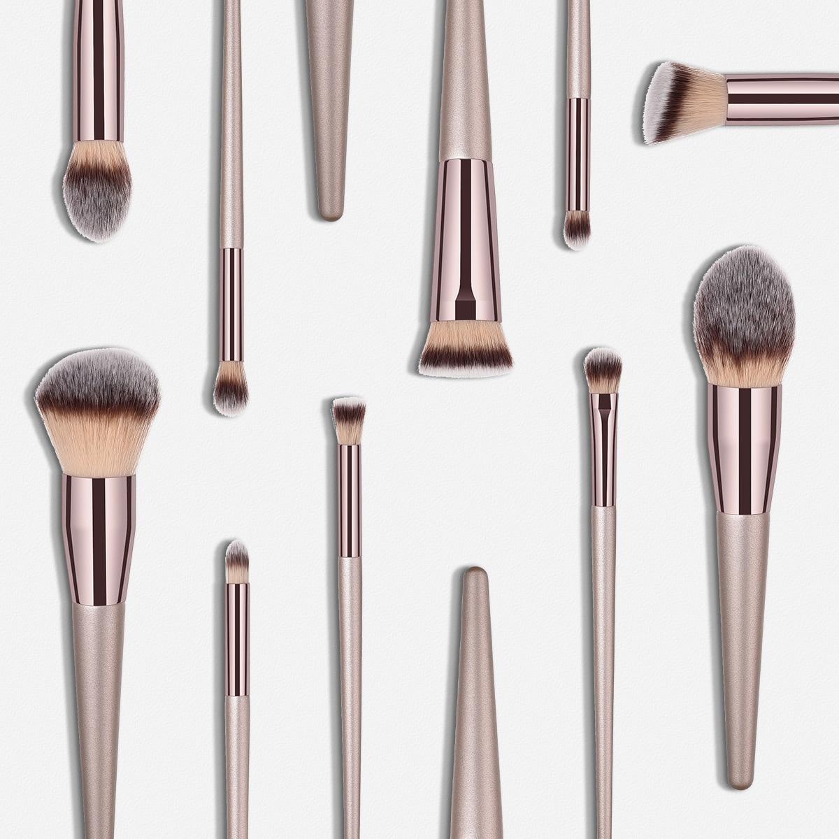 14/10/9/4pcs Makeup Brushes Set Powder EyeShadow Blending Eyeliner Eyelash Lip Portable Brush Set Make up pinceis de maquiagem