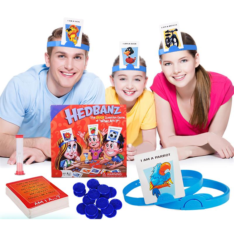 Hedbanz Game Guess Who I Am Game Family Board Game Disney Characters Card Game Party Toys 1Set Board Game Guess Who Novelty Toys