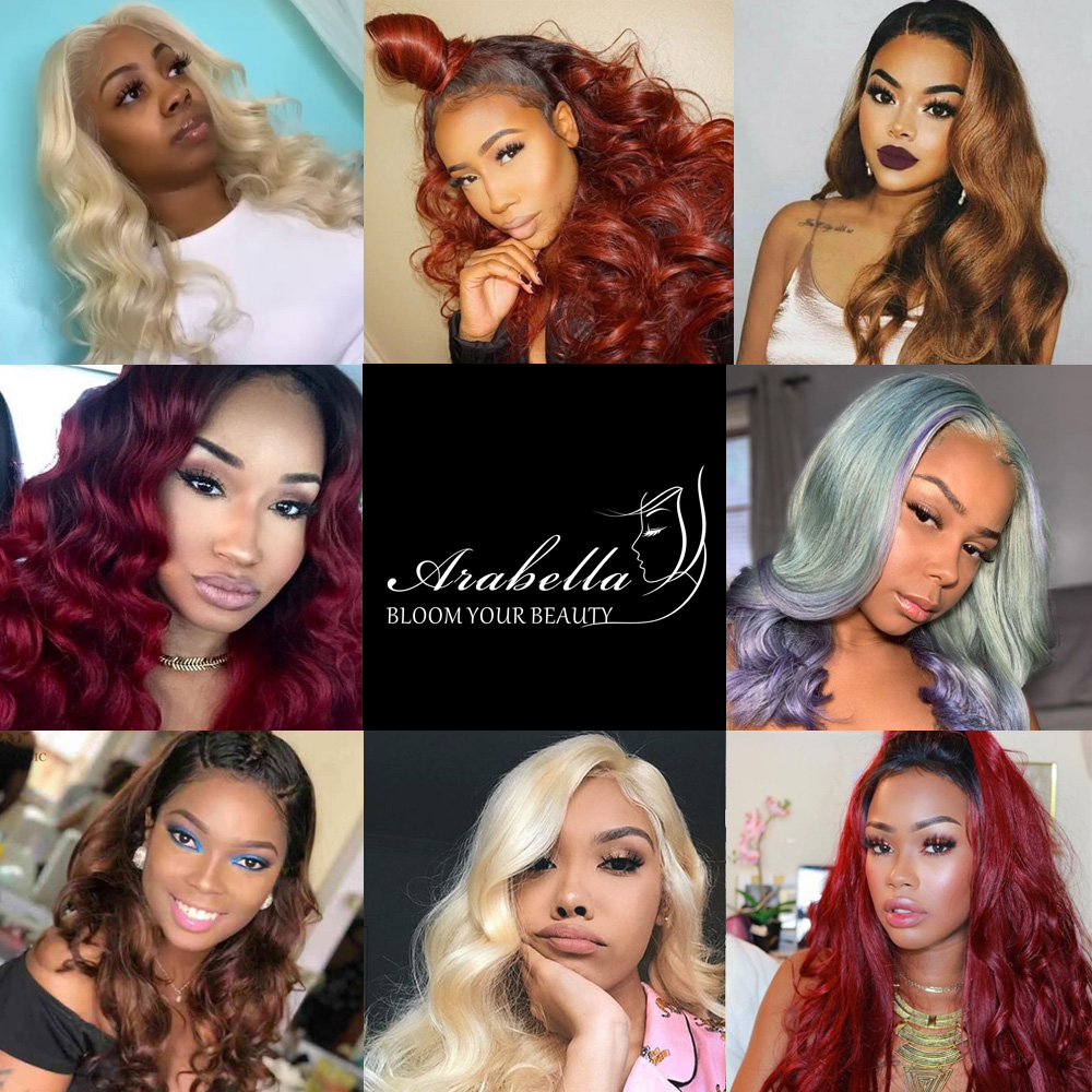 Blonde Lace Front Wig Body Wave 100%  Wigs 13x4 Lace Frontal Wig Arabella  Hair 613 Bob Lace Front 5