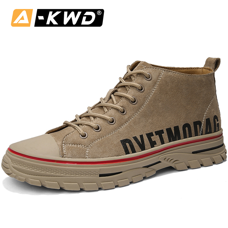 Casual Leather Shoes Men Thick Bottom