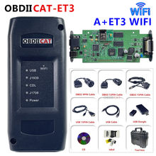 Mais novo OBDIICAT-ET3 adaptador iii caminhão ferramenta de diagnóstico 9 pinos adaptador comunicação iii cat3 com wifi todos os acessórios