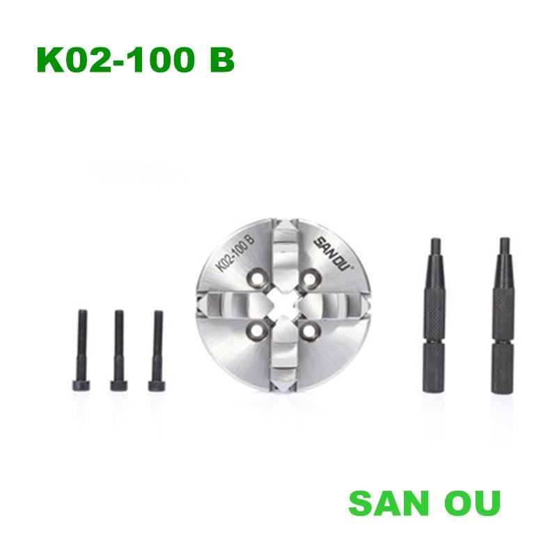 K02 100B мини 4 кулачковый патрон/100 мм Самоцентрирующийся патрон/Токарный мини патрон Зажим      АлиЭкспресс