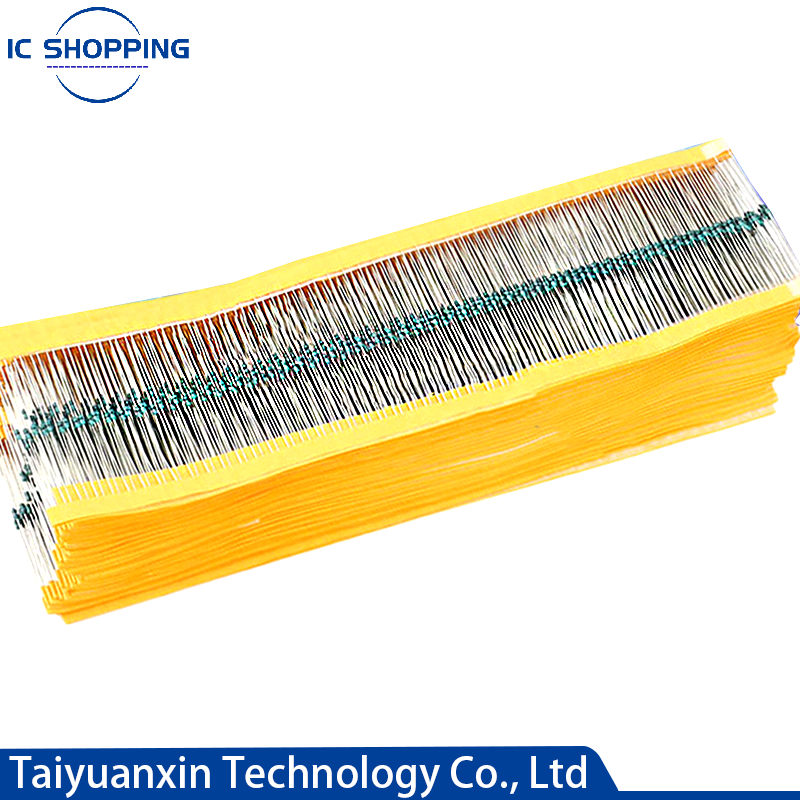 1/6W 1/8W 0.125W Metal Film Resistor Five Ring Power Resistor 0.1~1M 3.3 4.7 10R 47 100 220 360 470 1K 2.2K 10K 22K 4.7K 100KOhm