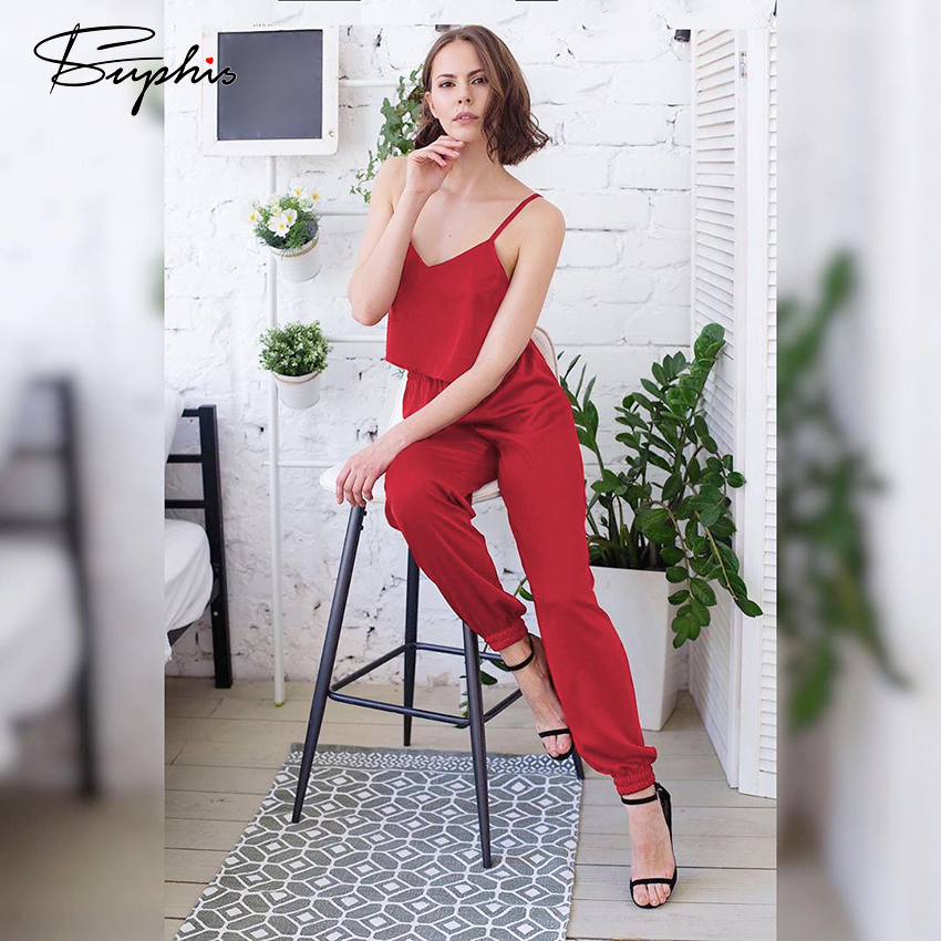 Suphis Sexy V Neck Nightgown Red Pajama Satin Spaghetti Strap Cami Top With Silk Pants Female Summer Sleepwear Home Female Set