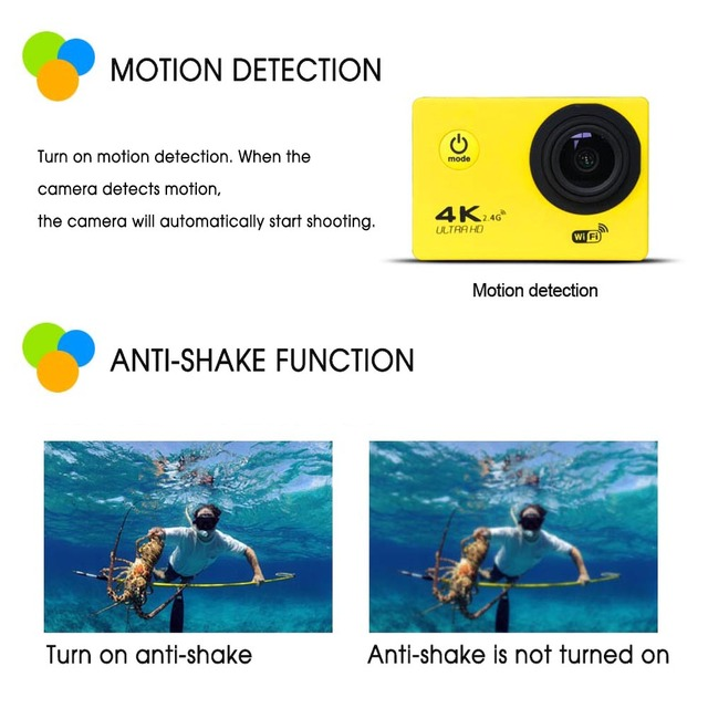 Ultra HD 4K Action Camera wifi Camcorders 16MP 170 go cam 4 K deportiva 2 inch f60 Waterproof Sport Camera pro 1080P 60fps cam 5