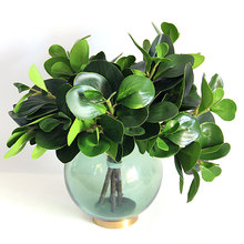 Artificial flower plant green leaf arrangement photography props modern home decoration
