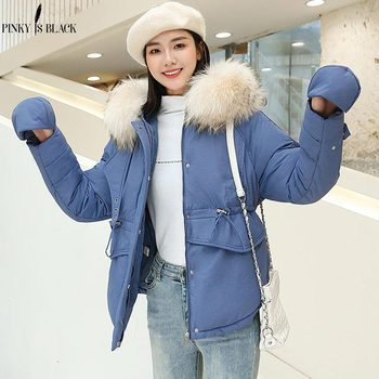 PinkyIsBlack 2019 New Fashion Winter Jacket Women Cotton Padded Outwear Hooded 5 Colors Female Short Coat Parkas With Gloves клава 2019 11 30t19 00
