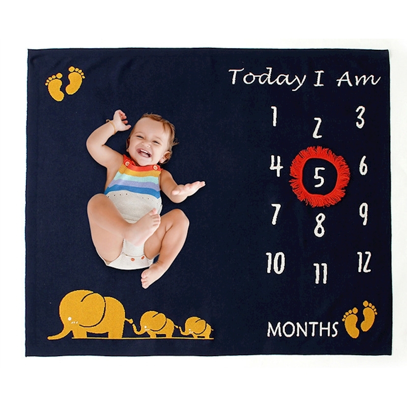 Baby Month Blanket My First Year Baby Memories Milestone Cards Blankets Photo Props Newborn Baby Items Foto For Months Of Baby