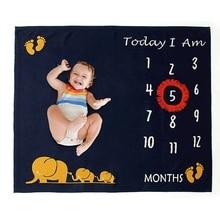 Blanket Milestone-Cards Baby Memories Newborn-Baby Months Items Photo-Props First-Year