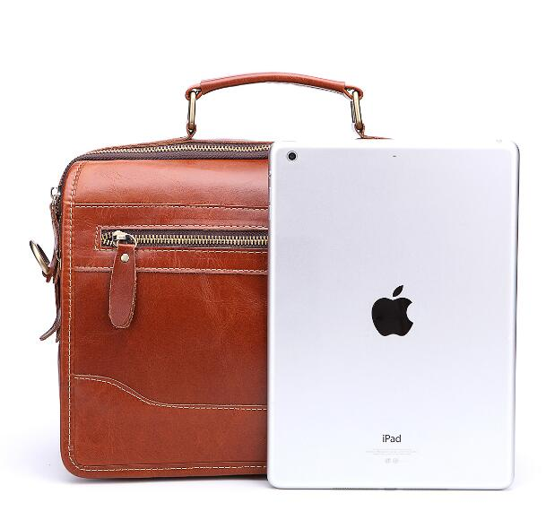 Genuine Leather Men Casual Business Laptop Bag Briefcase Bags