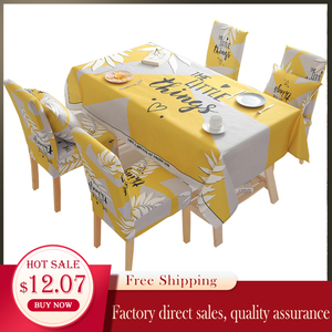 Image 5 - Noel geyik su geçirmez masa örtüsü toptan masa örtüsü düğün ev otel dekorasyon masa sandalye seti