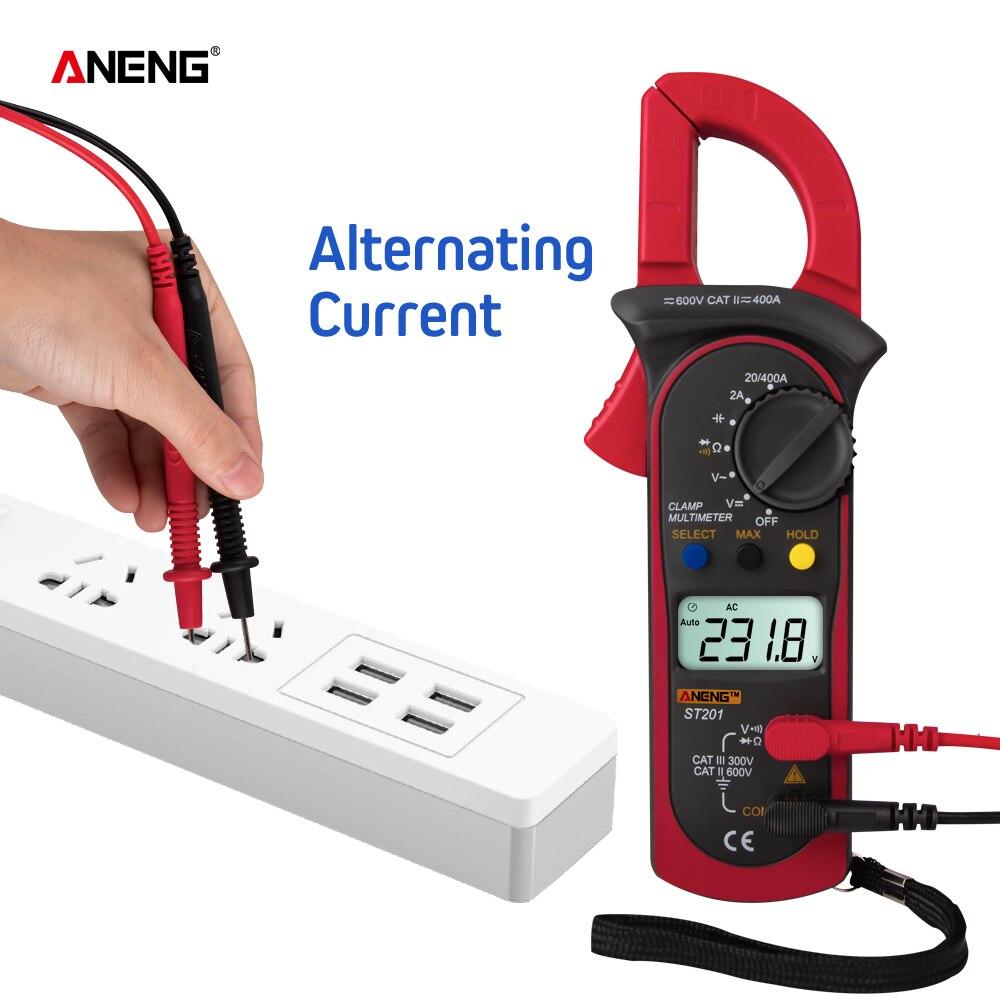 ANENG ST201 Professional Clamp Meter Plier Ammeter Digital Voltmeter Multitester Capacitor Transistor Tester Auto Multimeter