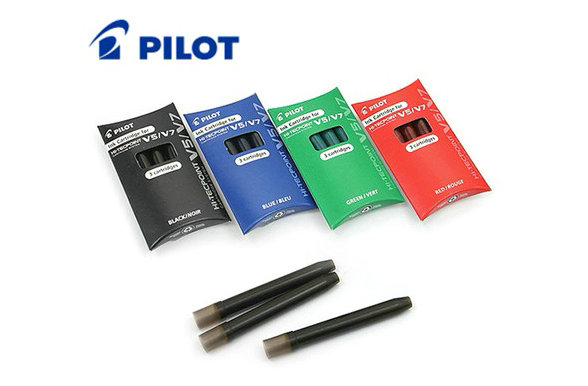 Free Shipping 6 Packs Of Pilot BXC V5/V7 Hi-Tecpoint Refill Ink Cartridge Replacements - Black/Red/Blue/Green Color Available