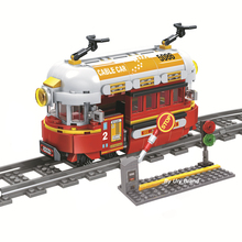 361pcs Steam Train Track Rail Building Blocks Set Fit City Creator Figures Diy Brick Model Toys For Children Education Gift