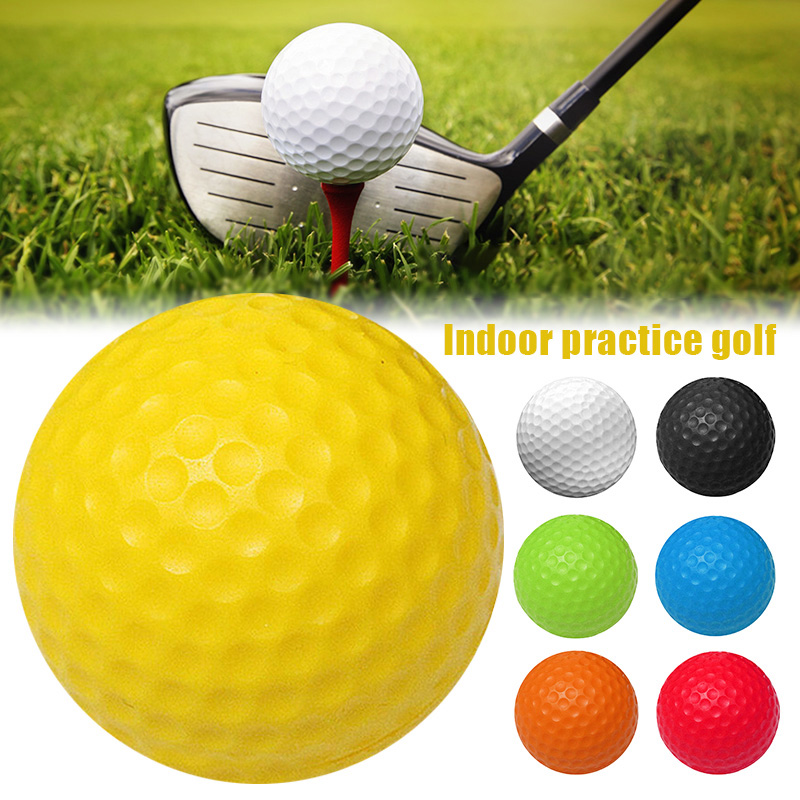 Golfs Ball PU Solid Soft Balls Indoor Practice Ball Sport Exercise Room Foam Balls BHD2
