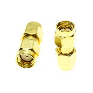 1x pces sma macho para RP-SMA rpsma rp sma macho plugue cabo conector da antena soquete banhado a ouro de bronze em linha reta rf adaptadores coaxiais