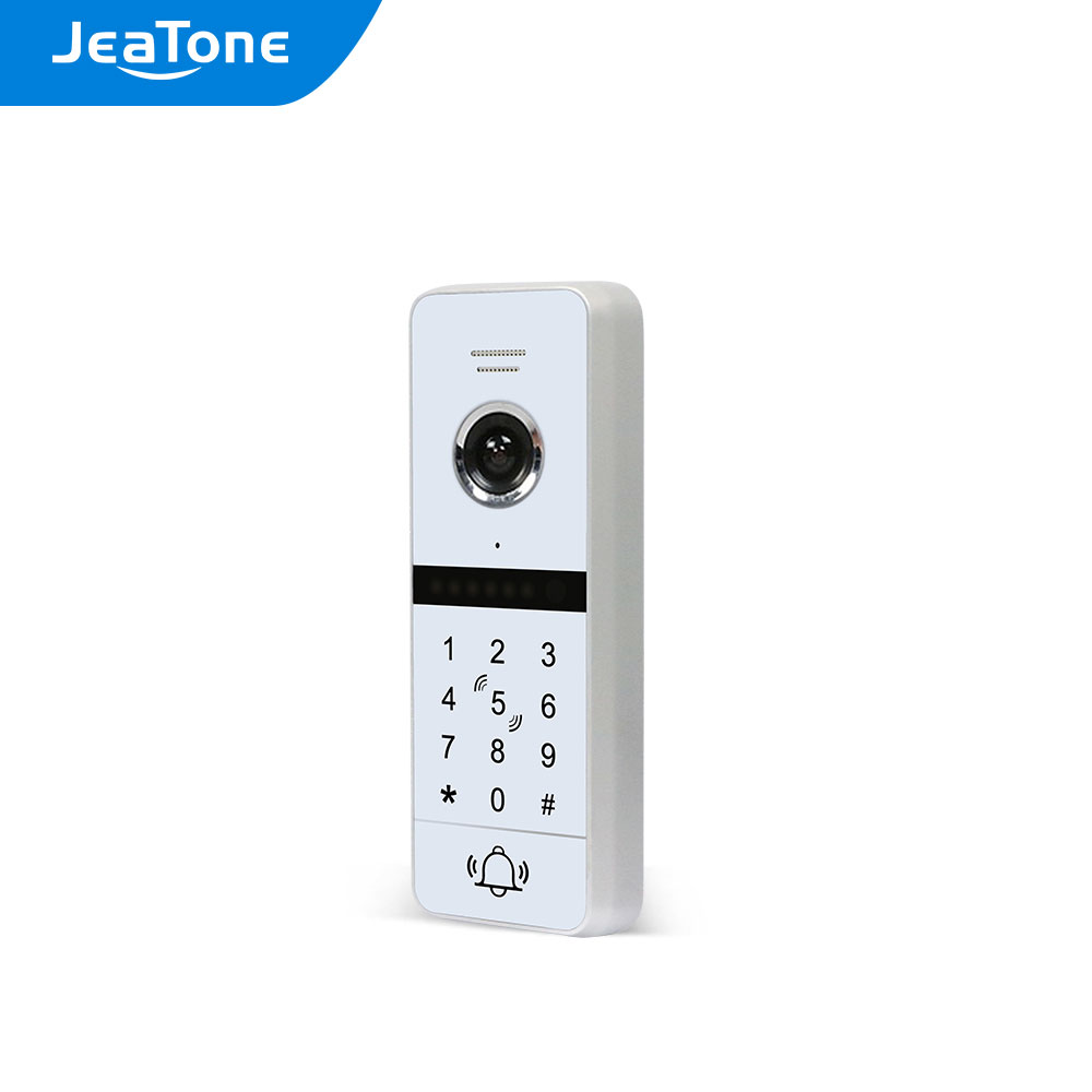 JEATONE 4-Wired Full Touch Sensor Doorbell Outdoor Unit 960p,Support Password/Card Unlock ,Work with Jeatone 86s Wifi Monitor