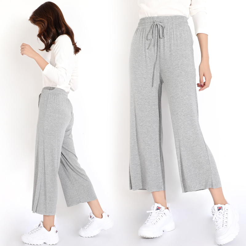 Home Casual Out Pants Comfortable Solid Modal Long Pants Plus Size Women Sleep Bottoms Female Lounge Wear Night пижамные штаны