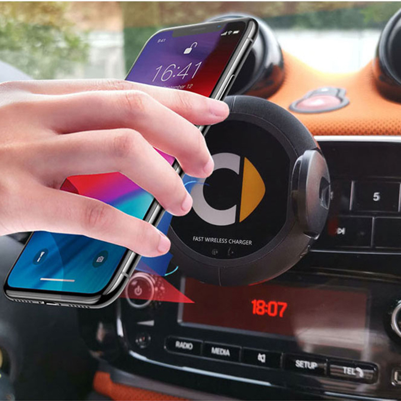 Smart 453 fortwo Car Wireless Charger 10W Quick Charge Phone Navigation Holder for Smart 451 brabus Smart 453 fortwo forfour