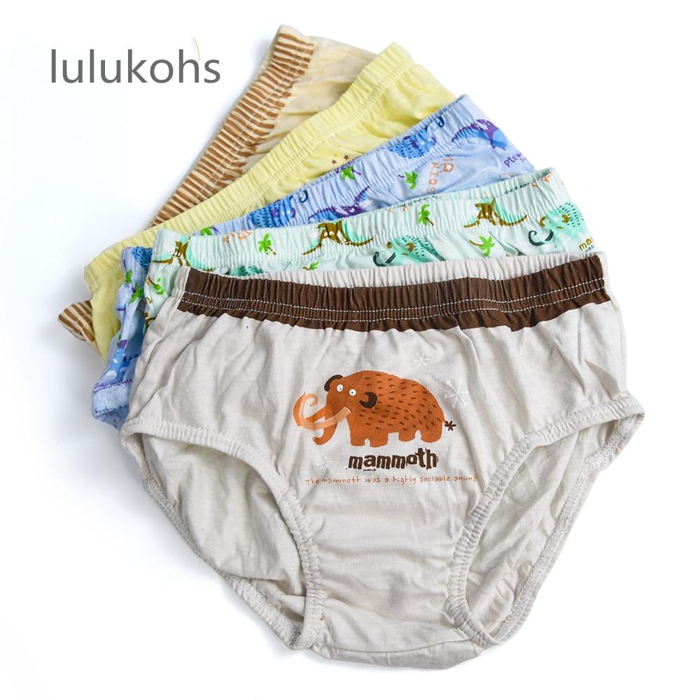 1 Pc Cotton Kid Boys Girls Pants Underware Cartoon Animal Baby Shorts Panties Boxer Underpants Briefs Children's Underwear 2-14Y