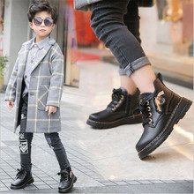 2019 New Autumn Winter Warm Genuine Leather Boots High Quality Children Snow Boots Boys Martin Boots Kids Hot Girls Casual Shoe high quality 2016 fashion autumn girls boots boy shoes children boots genuine leather kids boots baby martin boots
