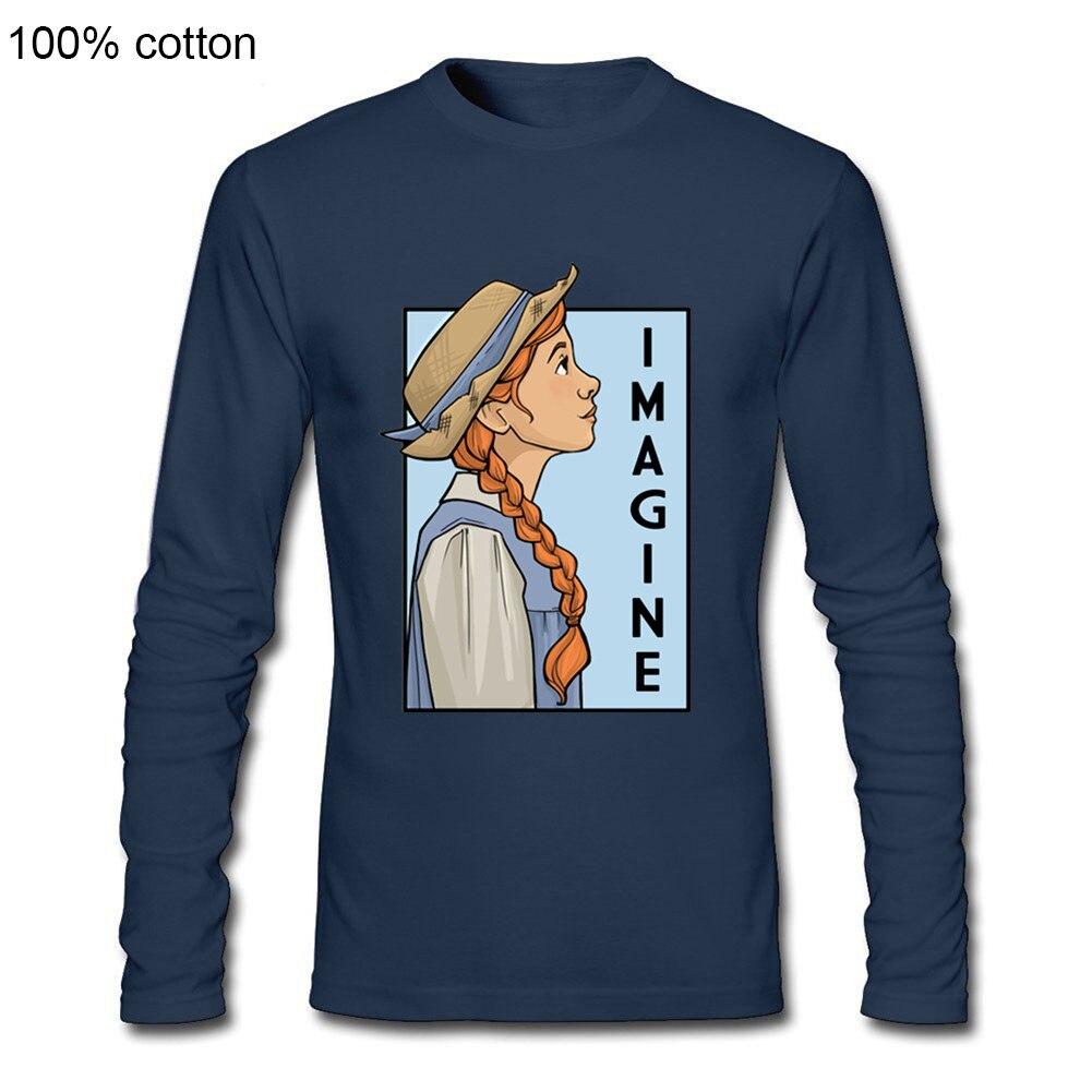 2020 Latest Popularity Karen Hallion Anne Shirley Green Gables Novel Imagine Strong Female She Series Men Long Sleeve T Shirts