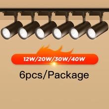 Track-Light Led Aluminum Home-Shop 220v 40W 12W 30W for 6pcs/Lot 20W