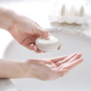 Image 2 - 4 pièces/boîte presse portable rechargeable bouteille voyage joint shampooing douche gel boîte de rangement cosmétique bouteille vide