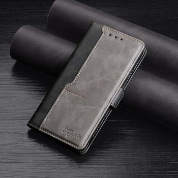 Etui z klapką do OPPO Realme 2 3 5 5i 6 7 8 Pro Realme X3 X2 X7 C3 C11 C12 C15 C17 C21 Hit kolorowy skórzany futerał na telefon osłona z uchwytem tanie i dobre opinie K try CN (pochodzenie) Etui z portfelem High quality Pu leather wallet case cover Hit color Leather Flip Case Splicing magnet flip phone case