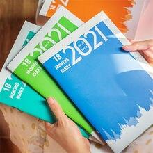 Agenda 2021 planejador semanal caderno mensal a5 cuaderno planificador semanal planejador quaderni cadernos carnet 2021 agendas