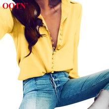 Модная блузка ootn 2020 топы женская элегантная желтая рубашка