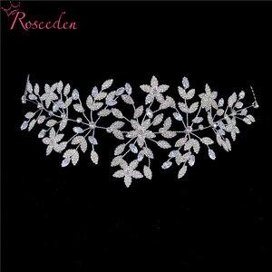Image 1 - Fashion Cubic Zirconia Bridal Wedding Soft Headband Hairband Tiara CZ Bride Hair Jewelry Accessorie Hairpiece RE3533