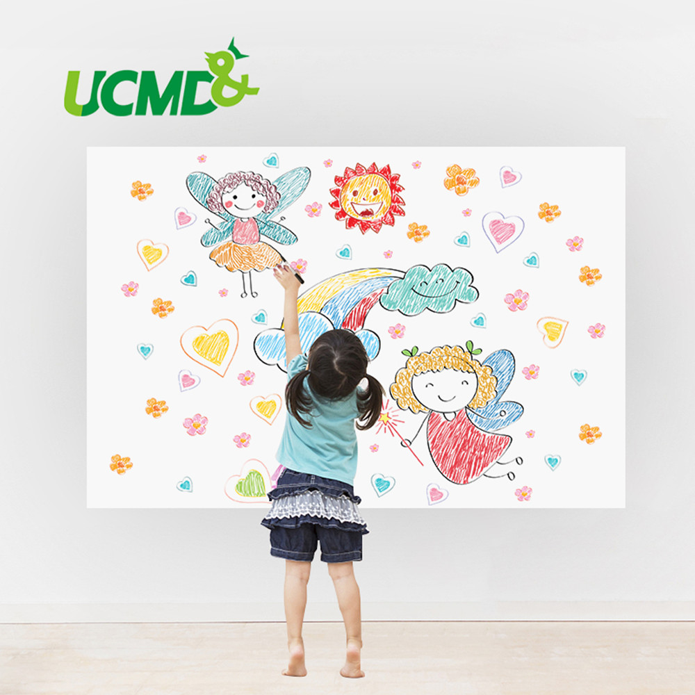 Self-adhesive Soft Whiteboard Erasable Writing Drawing Graffiti Message Board Home Office School Decor Wall Sticker Marker Pen