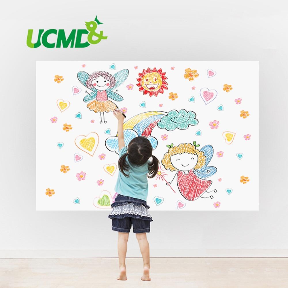 Self-adhesive Soft Whiteboard Erasable Writing Drawing Graffiti Message Board Home Office School Decor Wall Sticker Marker Pen