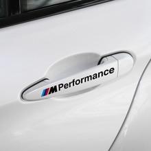 цена на 2pcs Sports Performance Car Door Handle Stickers Decals Accessories for BMW X1 X3 X4 X5 X6 M1 M2 M3 M5 M6 1 3 5series