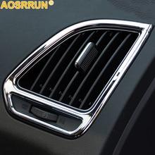 Для HYUNDAI IX35 2011 2012 2013 автомобильные аксессуары выход кондиционера хромированная отделка декоративная крышка
