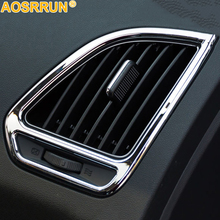 For HYUNDAI IX35 2011 2012 2013 2014 Car Accessories Air conditioner outlet Chrome trim decoration cover