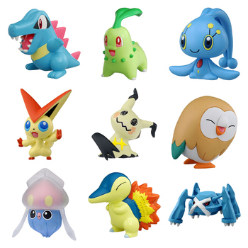 Takara Tomy Pokemon Moncolle-EX Sun Moon 3-5cm  Collection Toy Figure Various Characters New Bulbasaur Charizard
