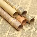 45pcs Cadeaupapier Roll Vintage Krant Dubbelzijdig Wrap Decor Art Kraft Voor Christmas Party Creative Materiaal C1474 m