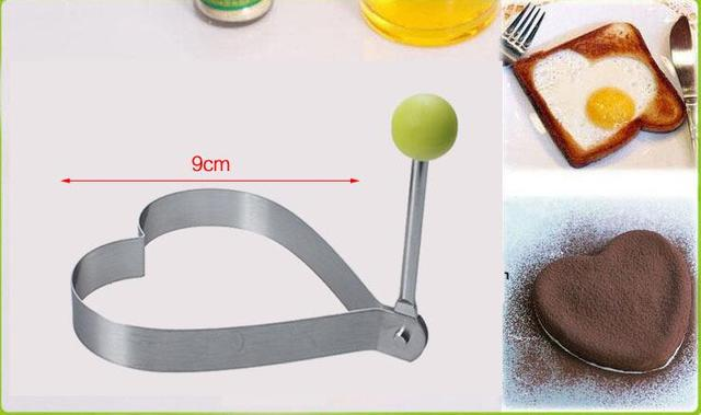 1 pcs Stainless steel form for frying eggs tools omelette mould device egg/pancake ring egg shaped kitchen appliances 5
