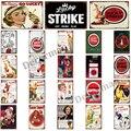 [WellCraft] сигареты Лаки Страйк забавные металлические знаки Плакаты Винтаж настенная живопись LTA-1763