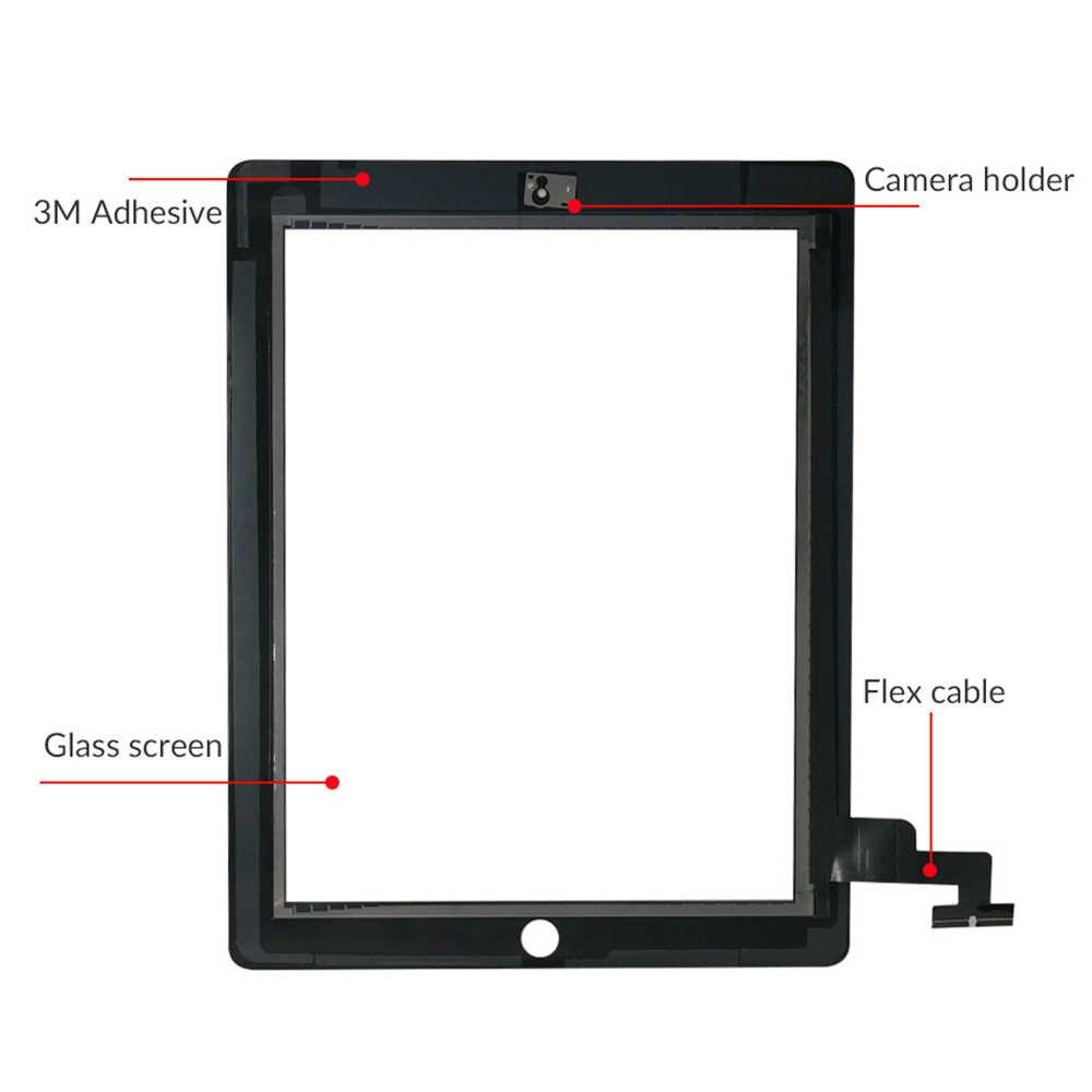 شاشة لمس 9.7 بوصة لأجهزة iPad 2 A1395 A1396 A1397 لوحة لمس شاشة LCD خارجية استبدال محول الأرقام زجاج المستشعر