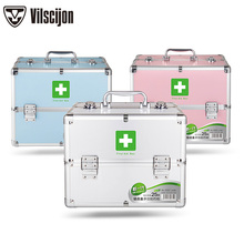 Aluminum Alloy Family Medicine Box Multi-layer Outpatient Household Child Size Emergency Storage