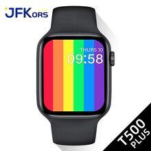 Inteligentny zegarek 2021 seria 6 T500 Plus kobiety Bluetooth zadzwoń tętno dla Apple Watch Ios Android PK IWO 13 12 8 W26 W46 W56