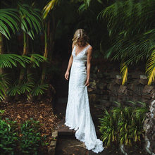 Распродажа очаровательные белые кружевные свадебные платья без