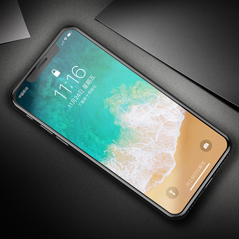 9H Frosted Full Cover Tempered Glass Matte Screen Protector for iPhone 11 Pro 4
