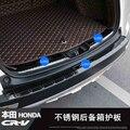 Высококачественный багажник из нержавеющей стали рельефная пластина Обрезка пластина/порог дверь порога для Honda CRV 2017-2019 автомобиль Стайли...