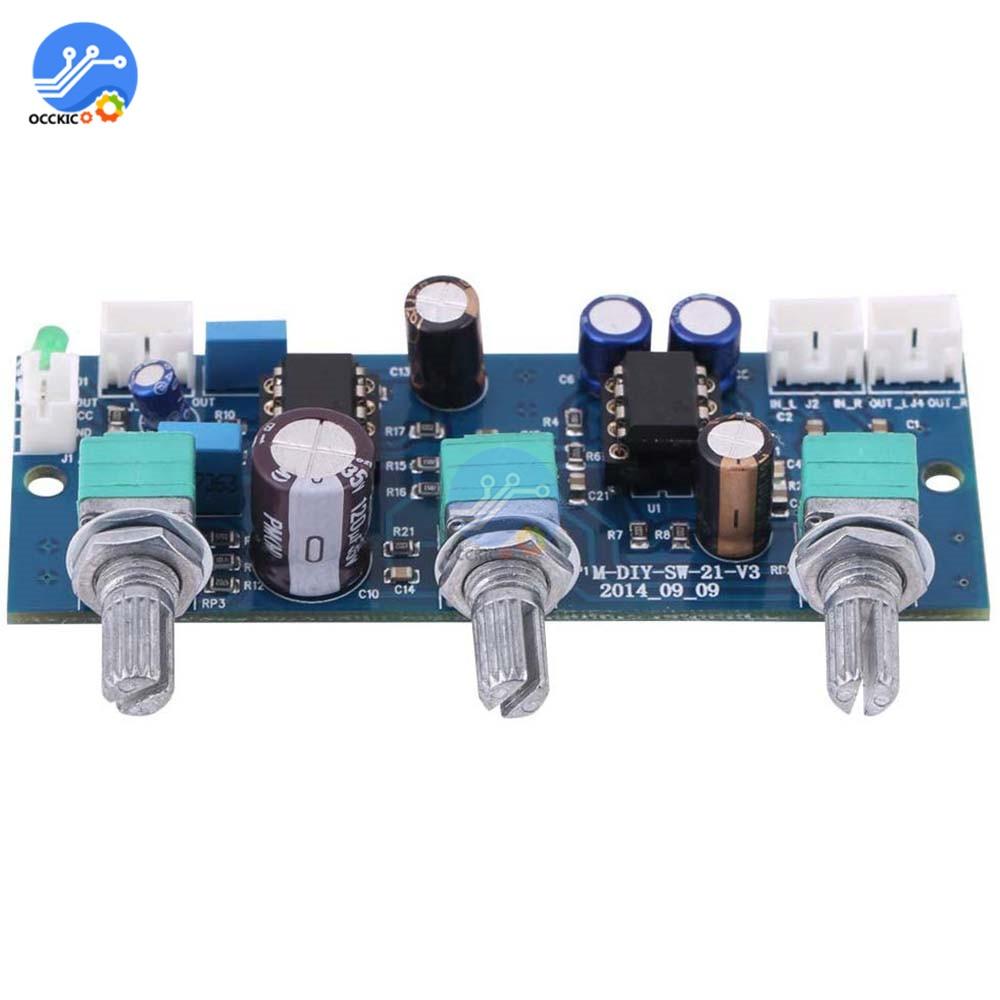 NE5532 Stereo Pre-amp Pre Amplifier Board Audio 2 Channels Amplifier Module Control For Phone Preamp HIFI Modulo Amplificador